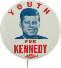 John F. Kennedy: Graphic Young Voters Button