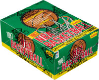1987 Fleer Basketball Wax Box With 36 Unopened Packs