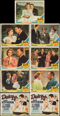 "Movie Posters:Comedy, Dulcy (MGM, 1940). Overall: Fine+. Trimmed Lobby Card Set of 8 (10.75"" X 13.75"") & Title Lobby Card (11"" X 14""). Comedy.. ... (Total: 9 Items)"