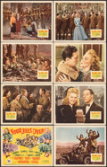 """Movie Posters:War, Four Jills in a Jeep (20th Century Fox, 1944). Overall: Very Fine-. Lobby Card Set of 8 (11"""" X 14"""") with Original Studio Env... (Total: 9 Items)"""