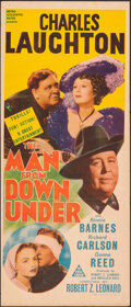 "Movie Posters:Drama, The Man from Down Under (MGM, 1943). Folded, Fine+. Australian Daybill (12.75"" X 30""). Drama.. ..."