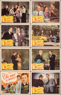"""Oh, What a Night! (Monogram, 1944). Very Fine. Lobby Card Set of 8 (11"""" X 14"""") with Original Studio Envelope..."""