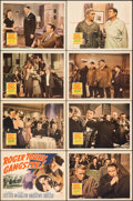 """Movie Posters:Crime, Roger Touhy, Gangster (20th Century Fox, 1944). Fine/Very Fine. Lobby Card Set of 8 (11"""" X 14"""") with Original Studio Envelop... (Total: 9 Items)"""