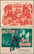 """Movie Posters:Swashbuckler, The Sea Hawk (Warner Bros., R-1947/Dominant, R-1956). Fine+. Title Lobby Cards (2) (11"""" X 14""""). Swashbuckler.. ... (Total: 2 Items)"""