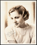 """Movie Posters:Miscellaneous, Joan Fontaine (1950s). Very Fine. Signed Portrait Photo (8"""" X 10""""). Miscellaneous.. ..."""