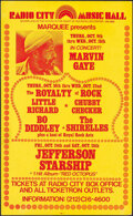 """Movie Posters:Rock and Roll, Radio City Music Hall Concerts (Marquee, 1975). Very Fine-. Window Card (12.75"""" X 20.5""""). Rock and Roll.. ..."""