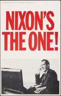"""Movie Posters:Miscellaneous, Nixon's The One! (Information Committee for Nixon, Late 1960s). Fine/Very Fine. Window Card (14"""" X 22""""). Miscellaneous.. ..."""