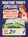 """Movie Posters:Advertising, Rinso Detergent (Unilever, 1940s). Rolled, Very Fine+. Advertising Poster (12"""" X 16"""") """"Wartime Thrift."""" Advertising.. ..."""