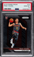 Basketball Cards:Singles (1980-Now), 2018 Panini Prizm Trae Young #78 PSA Gem Mint 10. ...