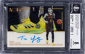 Basketball Cards:Singles (1980-Now), 2018 Panini Noir Trae Young (Sneakers Spotlight Autos) #SNS-TY BGS NM-MT 8, Auto 10 - #'d 12/99. ...