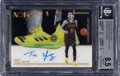 Basketball Cards:Singles (1980-Now), 2018 Panini Noir Trae Young (Sneakers Spotlight Autos) #SNS-TYG BGS NM-MT+ 8.5, Auto 10 - #'d 29/99. ...