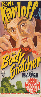 "The Body Snatcher (RKO, 1946). Folded, Fine+. Australian Daybill (12.5"" X 30""). Horror"
