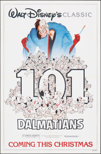 "101 Dalmatians (Buena Vista, R-1985). Folded, Very Fine+. One Sheet (27"" X 41"") Advance Style. Animation"