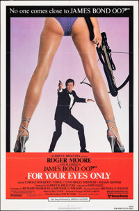 "For Your Eyes Only (United Artists, 1981). Folded, Very Fine-. One Sheet (27"" X 41""). James Bond"
