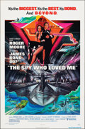 "Movie Posters:James Bond, The Spy Who Loved Me (United Artists, 1977). Folded, Very Fine-. One Sheet (27"" X 41"") Bob Peak Artwork. James Bond.. ..."