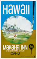"""Movie Posters:Miscellaneous, Makaha Inn & Country Club in Hawaii (Western International Hotels, c. 1970). Rolled, Very Fine-. Travel Poster (25"""" X 40""""). ..."""