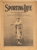 Baseball Collectibles:Publications, 1916 Sporting Life March, 4 1916 - Babe Ruth's First Cover....