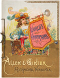 "Baseball Cards:Other, 1888 A17 Allen & Ginter's ""World's Champions - Second Series"" Album...."