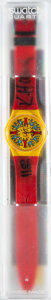 Prints & Multiples, Keith Haring (1958-1990). Modele Avec Personnages GZ100, 1986. Wrist watch. 9 x 1-1/2 inches (22.9 x 3.8 cm). Ed. 9001/9...