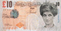 Collectible, After Banksy . Di-Faced Tenner, 10GBP Note, 2005. Offset lithograph in colors on paper. 3 x 5-5/8 inches (7.6 x 14.3 cm)...