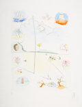 Prints & Multiples, Salvador Dali (1904-1989). The Frontispiece, from Twelve Tribes of Israel, 1972. Etching in colors on Rives BFK pape...