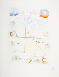 Salvador Dali (1904-1989) The Frontispiece, from Twelve Tribes of Israel, 1972 Etching in