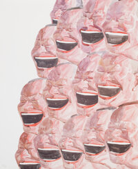Yue Minjun (b. 1962) Smile-ism No. 13, 2006 Lithograph in colors on wove paper 43-1/4 x 35 inches