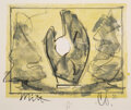 Prints & Multiples, Claes Oldenburg (b. 1929). Standing Mitt with Ball, 1973. Lithograph in colors on handmade paper. 11 x 14 inches (27.9 x...