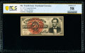 Courtesy Autograph Fr. 1374 50¢ Fourth Issue Lincoln PCGS Banknote Choice AU 58