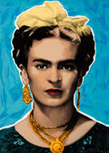 Prints & Multiples, Richard Duardo (1952-2014). Untitled (Frida Kahlo), 1997. Screenprint in colors on wove paper. 47 x 34 inches (119.4 x 8...