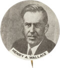 Henry A. Wallace: Scarce Picture Pin