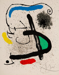 Joan Miró (1893-1983) Cahier d'Ombres, set of four, 1971 Lithographs in colors on wove paper 11-3