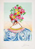 Prints & Multiples, Salvador Dali (1904-1989). The Flowering of Inspiration, from Retrospective Suite, 1978. Lithograph in colors on Arc...