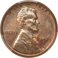 1943 CENT Struck on a Bronze Planchet MS62 Brown PCGS. CAC....(PCGS# 82709)