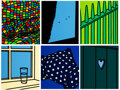 Prints & Multiples, Patrick Caulfield (1936-2005). Some Poems of Jules Laforgue (Edition A), 1973. Six screenprints in colors on Neobond syn...