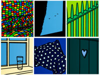 Patrick Caulfield (1936-2005) Some Poems of Jules Laforgue (Edition A), 1973 Six screenprints in col