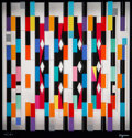 Prints & Multiples, Yaacov Agam (b. 1928). Interspaceograph Memory: Recollection Agamograph, 1980. Serigraph in colors on acrylic. 8-1/2 x 8...