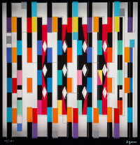 Yaacov Agam (b. 1928) Interspaceograph Memory: Recollection Agamograph, 1980 Serigraph in colors on acrylic 8-1/2 x 8