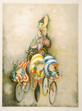 Prints & Multiples, Graciela Rodo Boulanger (b.1935). Promenade En Bicyclette, 1980. Lithograph in colors on wove paper. 32-1/4 x 24 inches ...