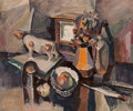 Paintings, Karl Knaths (American, 1891-1971). Tabletop Still Life, 1925. Oil on canvas. 24 x 30 inches (61.0 x 76.2 cm). Signed low...