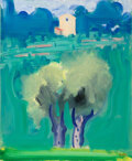 Paintings, Paul Resika (American, b. 1928). Landscape with Two Trees, Fayence, 1995. Oil on canvas. 28-3/4 x 23-5/8 inches (73.0 x ...