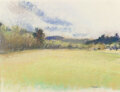 Works on Paper, Wolf Kahn (American, 1927-2020). Flood Plain. Pastel on paper. 14-3/4 x 20-1/2 inches (37.5 x 52.1 cm) (sheet). Signed l...