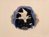 Georges Braque (1882-1963) Les Étoiles, 1959 Lithograph in colors on wove paper 19 x 25-1/2 inche