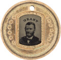 Political:Ferrotypes / Photo Badges (pre-1896), Ulysses S. Grant: Choice Back-to-Back Ferrotype....