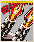 Prints & Multiples, After Roy Lichtenstein . As I Opened Fire, triptych, 1966. Lithographs in colors on wove paper. 25-1/4 x 20-7/8 inches (...