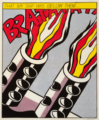 After Roy Lichtenstein As I Opened Fire, triptych, 1966 Lithographs in colors on wove paper 25-1