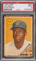 Baseball Cards:Singles (1960-1969), 1962 Topps Lou Brock #387 PSA Mint 9 - Only Two Higher. ...