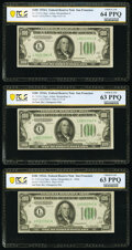 Fifteen Consecutive $100 Federal Reserve Notes Containing a Reverse Changeover and a Changeover Pair. ... (Total: 15 not...