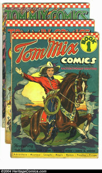 Tom Mix Comics Group (Ralston-Purina Co., 1940-42). One of the most desirable prizes in the world of Western comics coll...