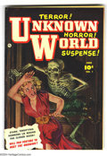 Golden Age (1938-1955):Horror, Unknown World #1 Bethlehem pedigree (Fawcett, 1952) Condition:VF/NM. Painted cover by Norman Saunders. This is the only iss...